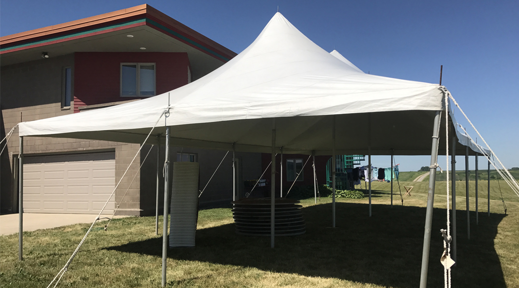 Home Outdoor Wedding Reception Tent in Grinnell, Iowa