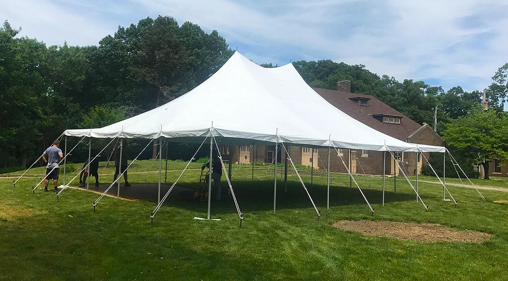 Small backyard Wedding tent in Iowa