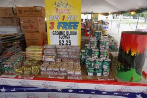 Small to large Fireworks at the Bellino Fireworks tent at Hy-Vee 1720 Waterfront Dr, Iowa City, IA 52240