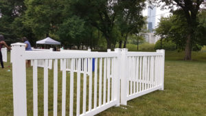 White Fence at Grant Park in Chicago, IL