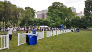 White Fence for an event in Grant Park in Chicago, Illinois