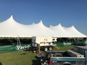 60' x 150' Legend Rope and Pole Tent at Centennial Park in North Liberty, Iowa