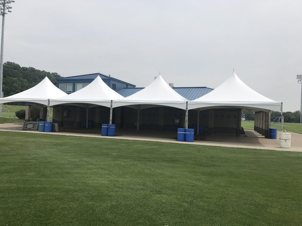 Four 20 X 20 Tentnology Frame Tents Side By Side In Iowa