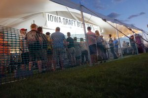 Iowa Craft Beer Tent under a Big Ten Rentals Tent at Blues and BBQ in North Libery, Iowa