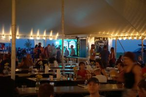 "Iowa Craft Beer Tent under our 60′ x 150′ ""twin pole"" Legend rope and pole tent at Blues and BBQ in North Libery, Iowa"