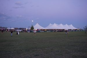 Multiple tents at BBQ in North Libery, Iowa