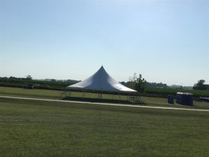One 40' x 40' rope and pole tent at the North Liberty Blues & BBQ festival