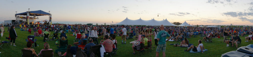 Panoramic view of Blues and BBQ durring the event