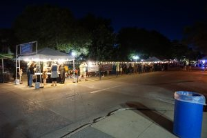 People packed into the Beverage Garden at the Festival Setup for the 2017 Iowa City Jazz Festival