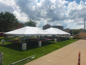 Tents at Downtown Street Fest in Davenport, Iowa