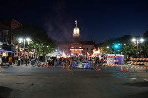 View of concession stand area at the 2017 Iowa City Jazz Festival by the Ped Mall