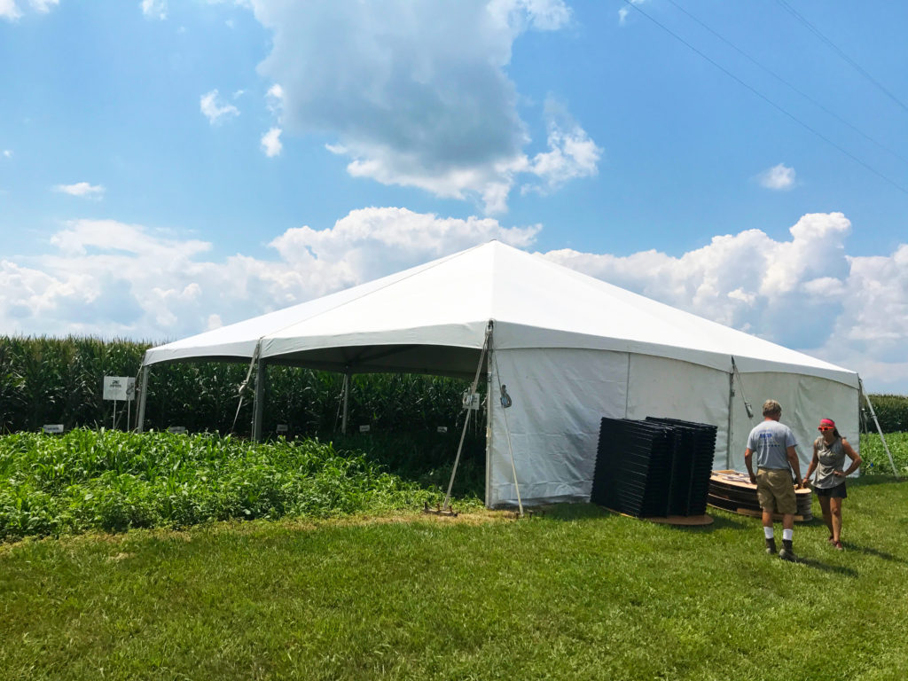 40' x 40' hybrid tent for ANP Liquid Fertilizer in Moline, IA
