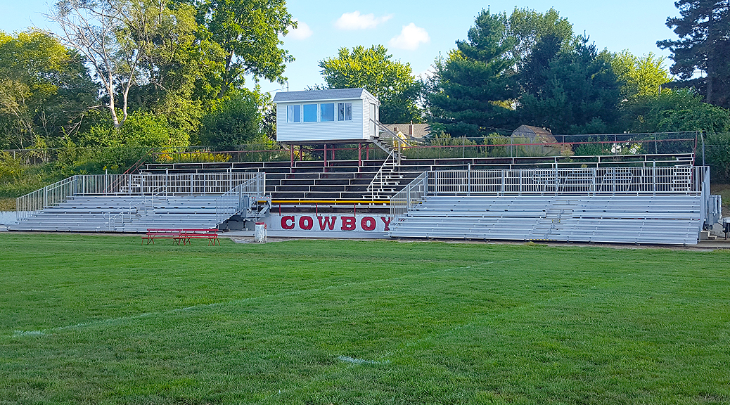 Bleachers in Sidney IA for football games