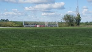 Bleachers on the Visitors Side for football games in Sidney, Iowa