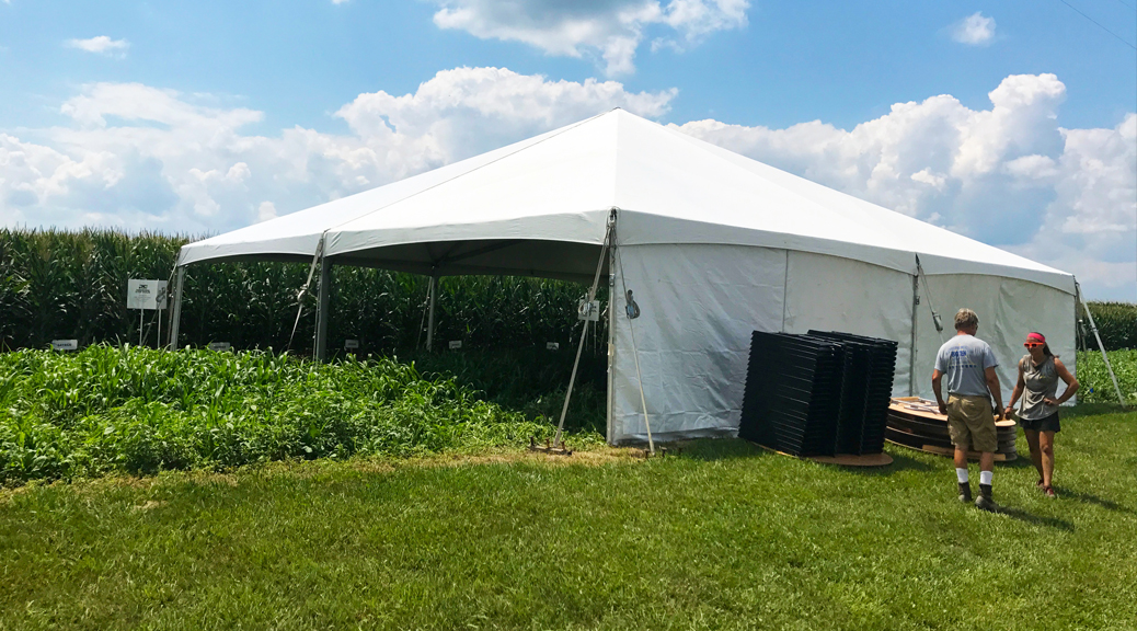 Outdoor Corporate Event for ANP Liquid Fertilizer in Moline, IA | 40' x 40' hybrid tent (header)