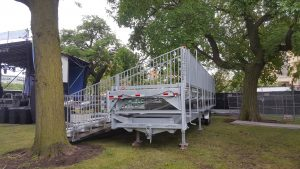 Portable Concert Bleachers for 2017 Pitchfork Music Fest in Chicago, IL