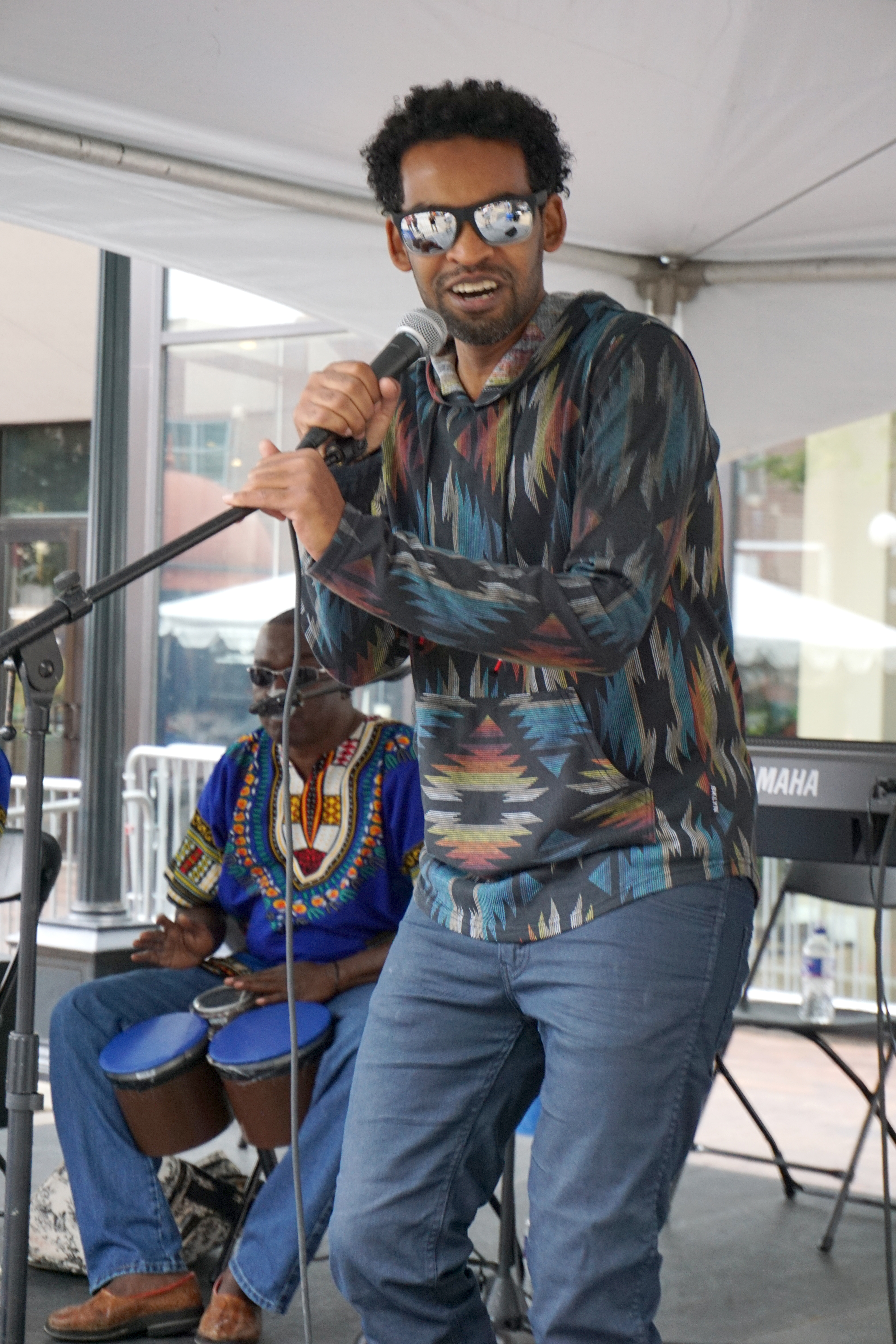 Singer of the SD Band at the 2017 Iowa Soul Festival in Iowa City. IA (Summer of the Arts)