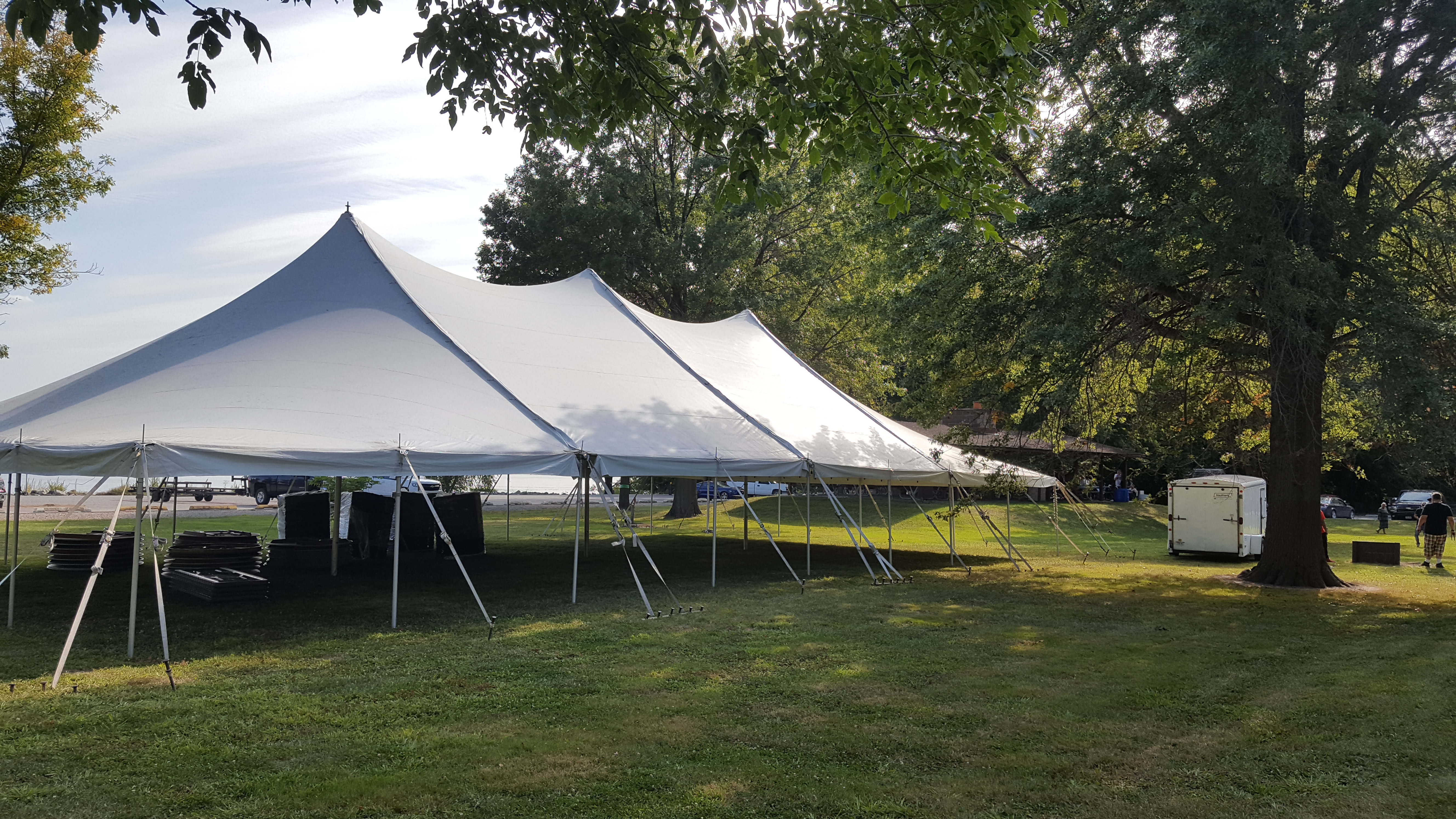 40' x 80' rope and pole tent in Muscatine, IA