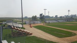 Towable bleachers at Field of Dreams