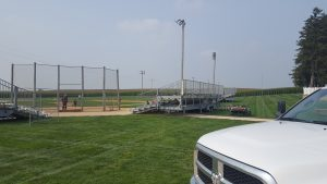 Towable bleachers at Field of Dreams by Big Ten Rentals (not the wooden ones from the movie) 5