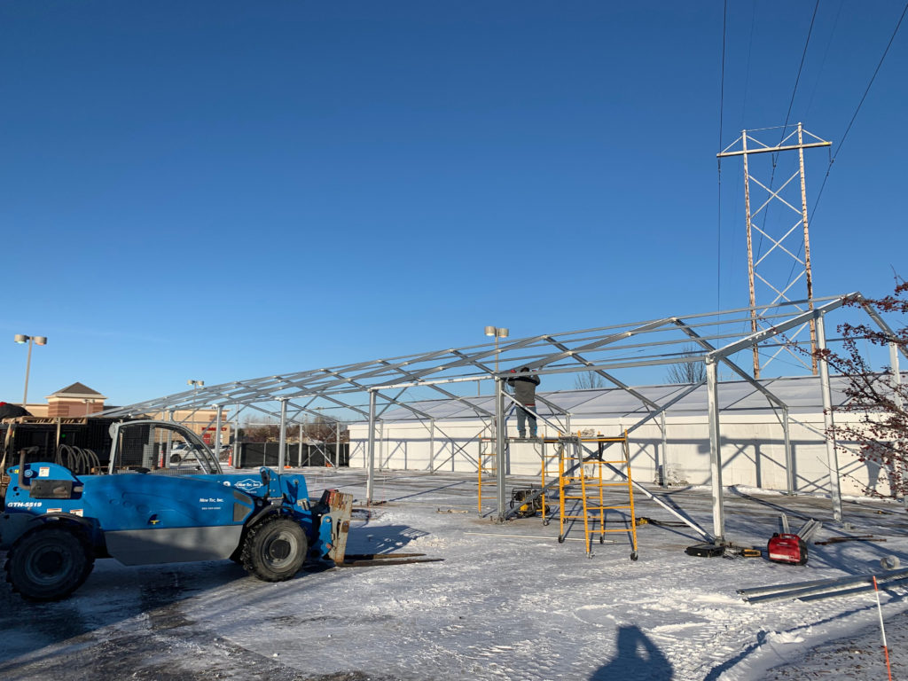 Frame of On-Site Temporary Warehouse Structures (tent)