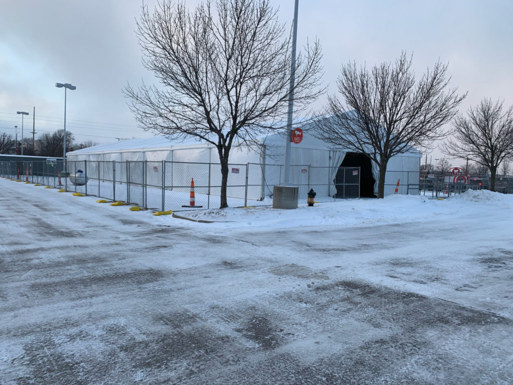 On-Site Temporary Warehouse Structures (tent) 30,500 sq ft