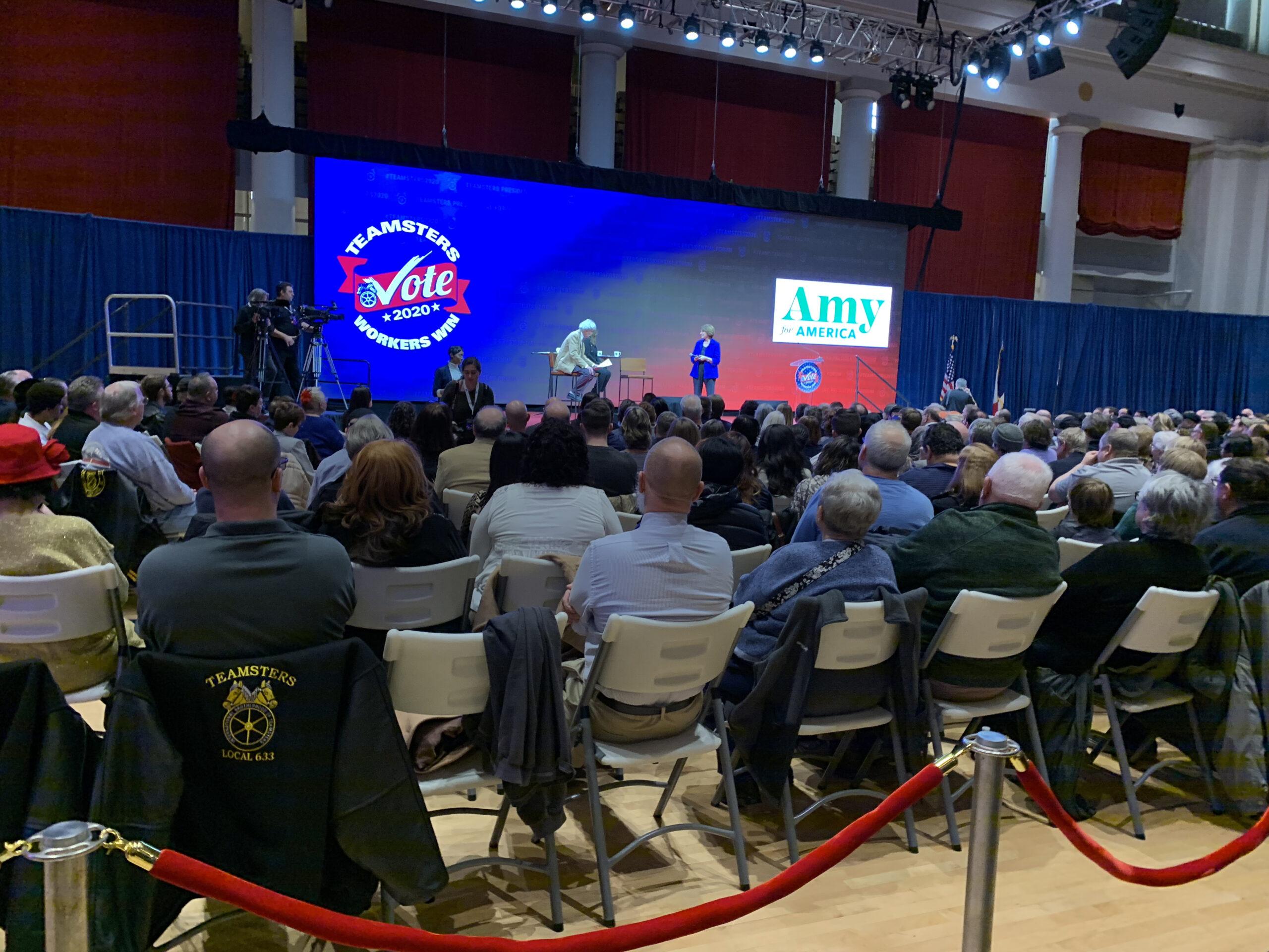 Amy Klobuchar at Teamsters Presidential Forum in December 7, 2019
