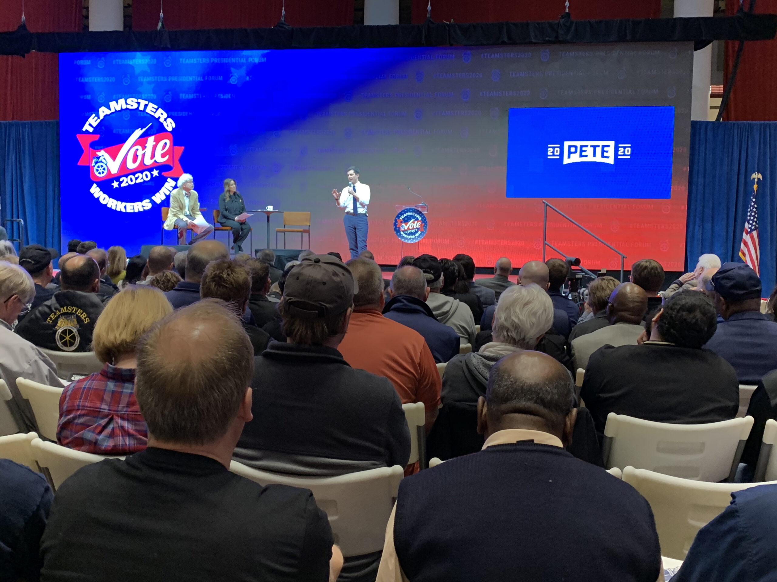 Pete Buttigieg at Teamsters Presidential Forum in December 7, 2019