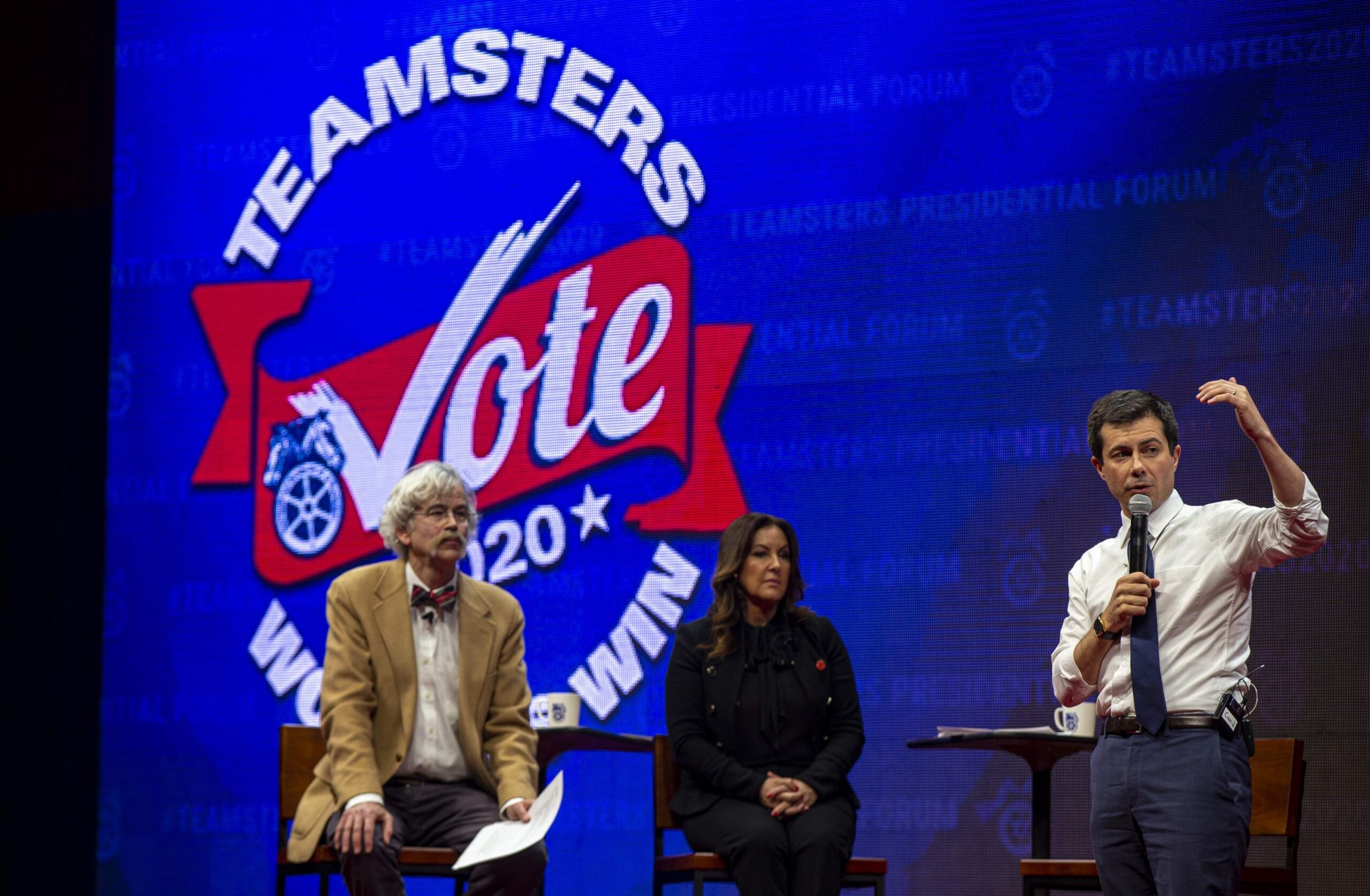 Pete Buttigieg at Teamsters Presidential Forum in December 7, 2019