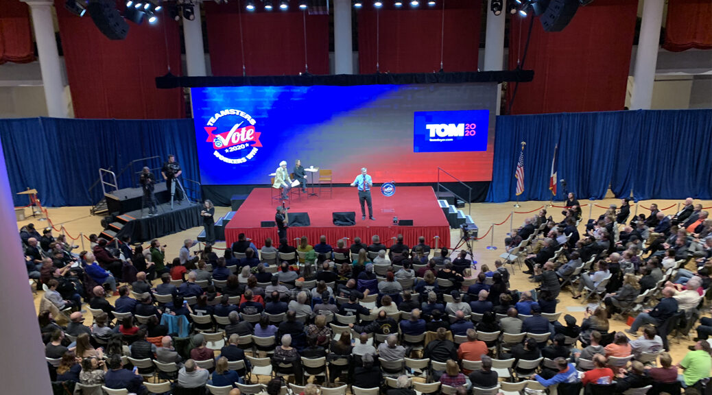 Political Event Setup for Teamsters Presidential Forum in December 7, 2019