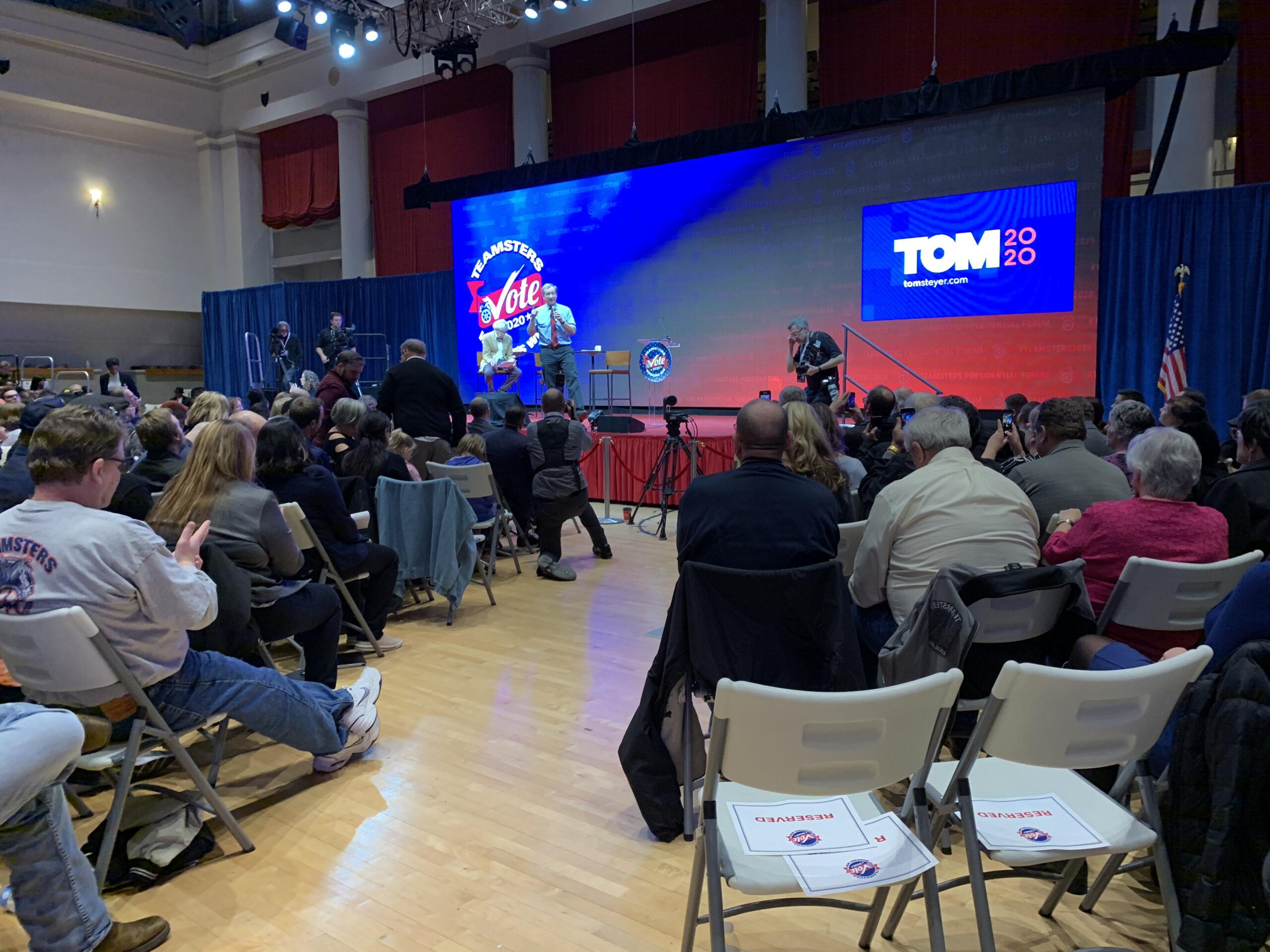 Tom Steyer at Teamsters Presidential Forum in December 7, 2019